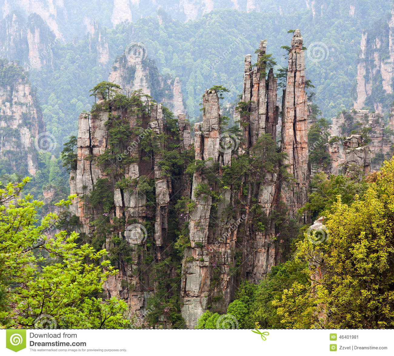 Zhangjiajie National Forest Park, China Stock Photo.