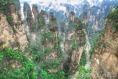 Zhangjiajie National Park, Avatar Hallelujah Mount Royalty Free.