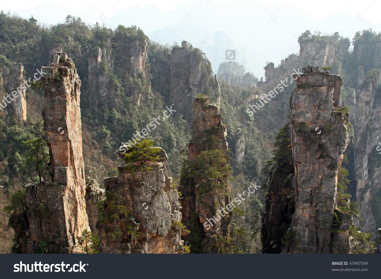 Zhangjiajie National Forest Park China World Stock Photo 47497549.