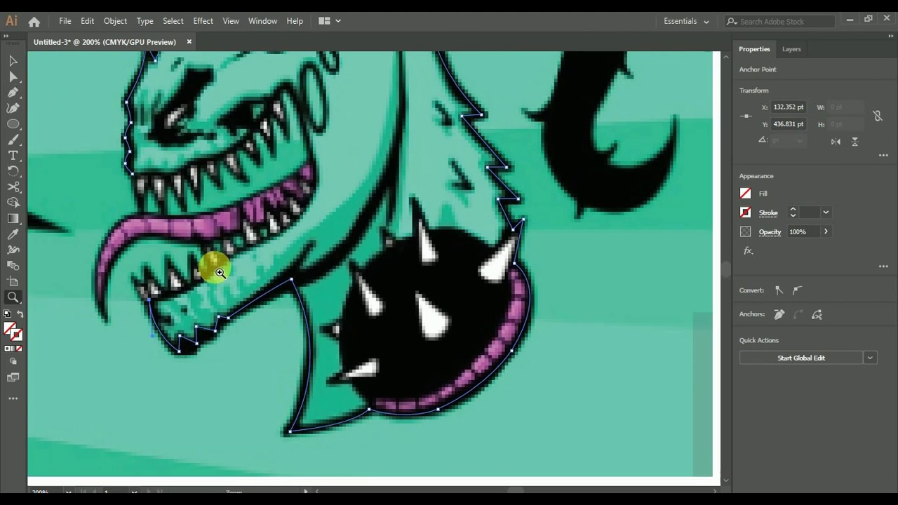 How To Make ZHC Logo Speed Art Drawing in Photoshop and Illustrator 8 Hours.