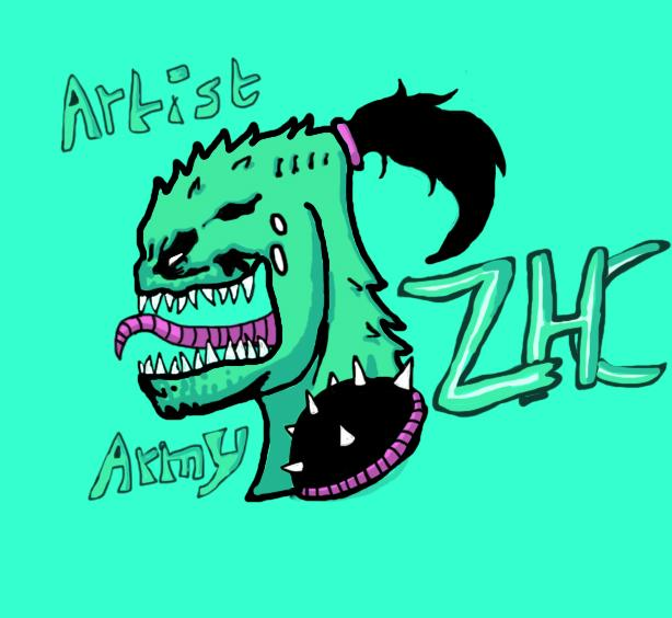 I made this ZHC logo for artist army. Rate it for Artist.