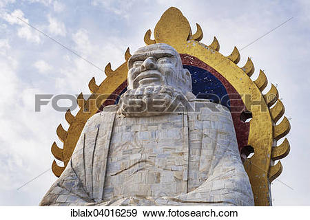 """Stock Photograph of """"Bodhidharma statue on Mount Song in Dengfeng."""
