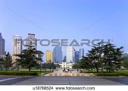 Stock Photo of Zhongshan plaza Dalian Liaoning China u18768524.