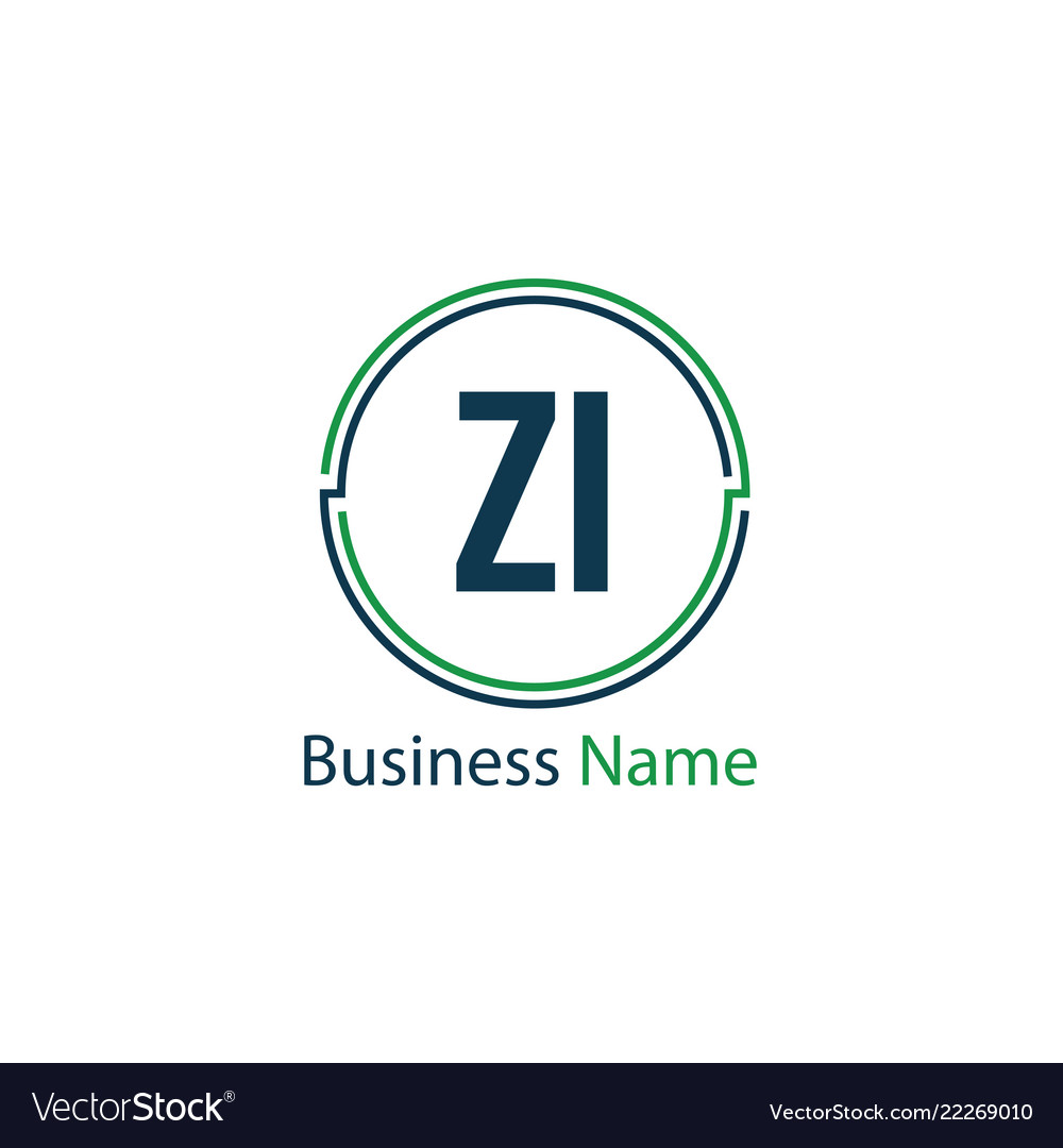 Initial letter zi logo template design.