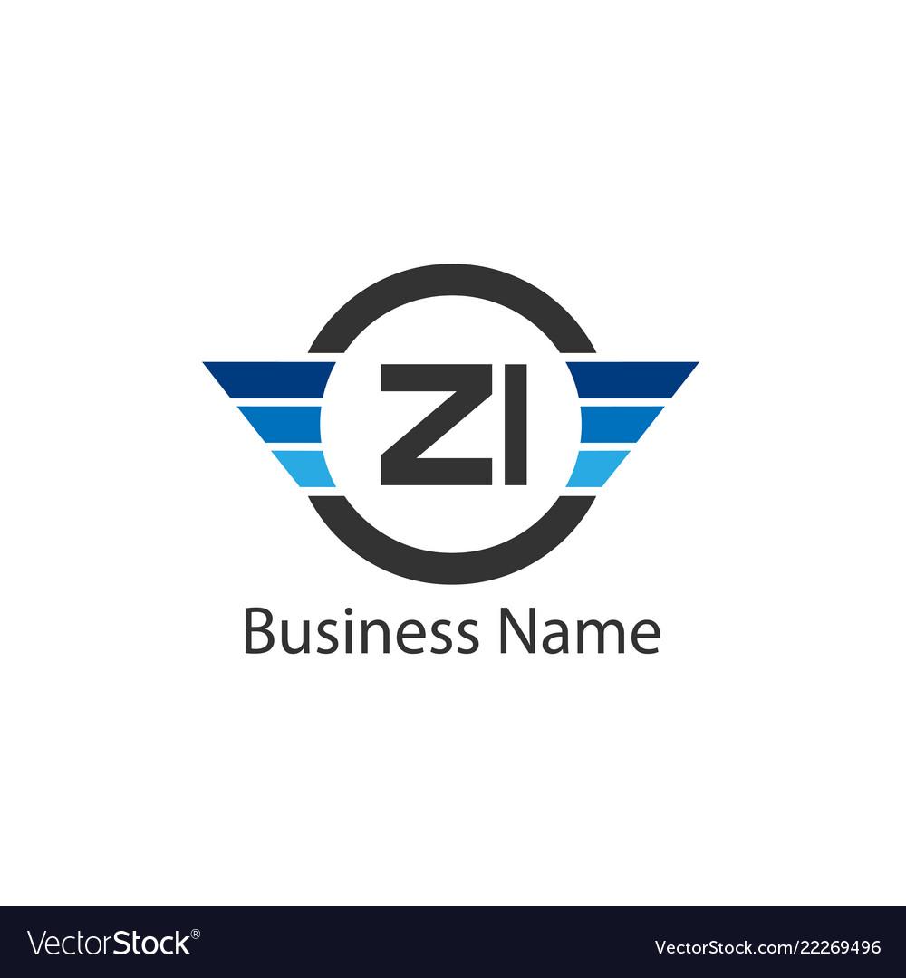 Initial letter zi logo template design.