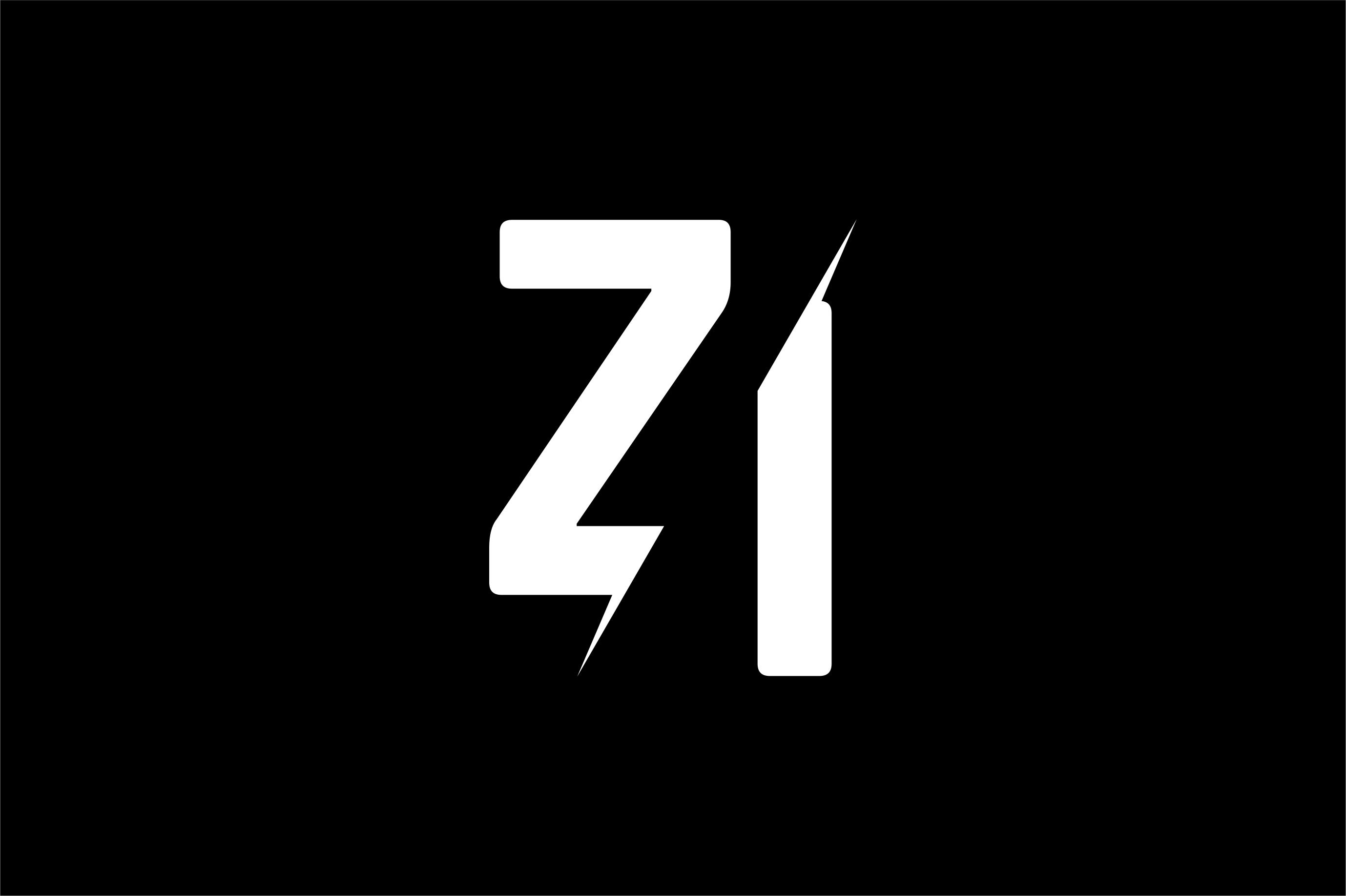 Monogram ZI Logo Design.