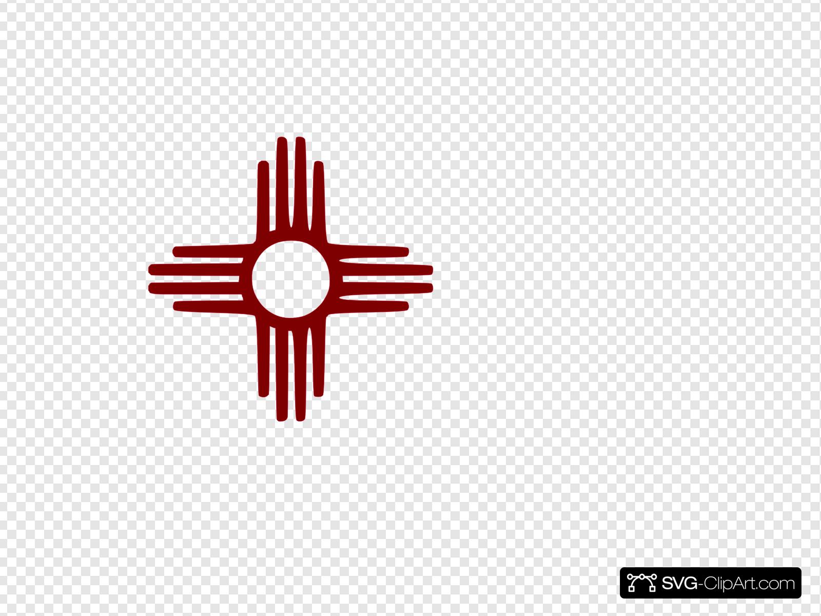 Zia Symbol Maroon Clip art, Icon and SVG.