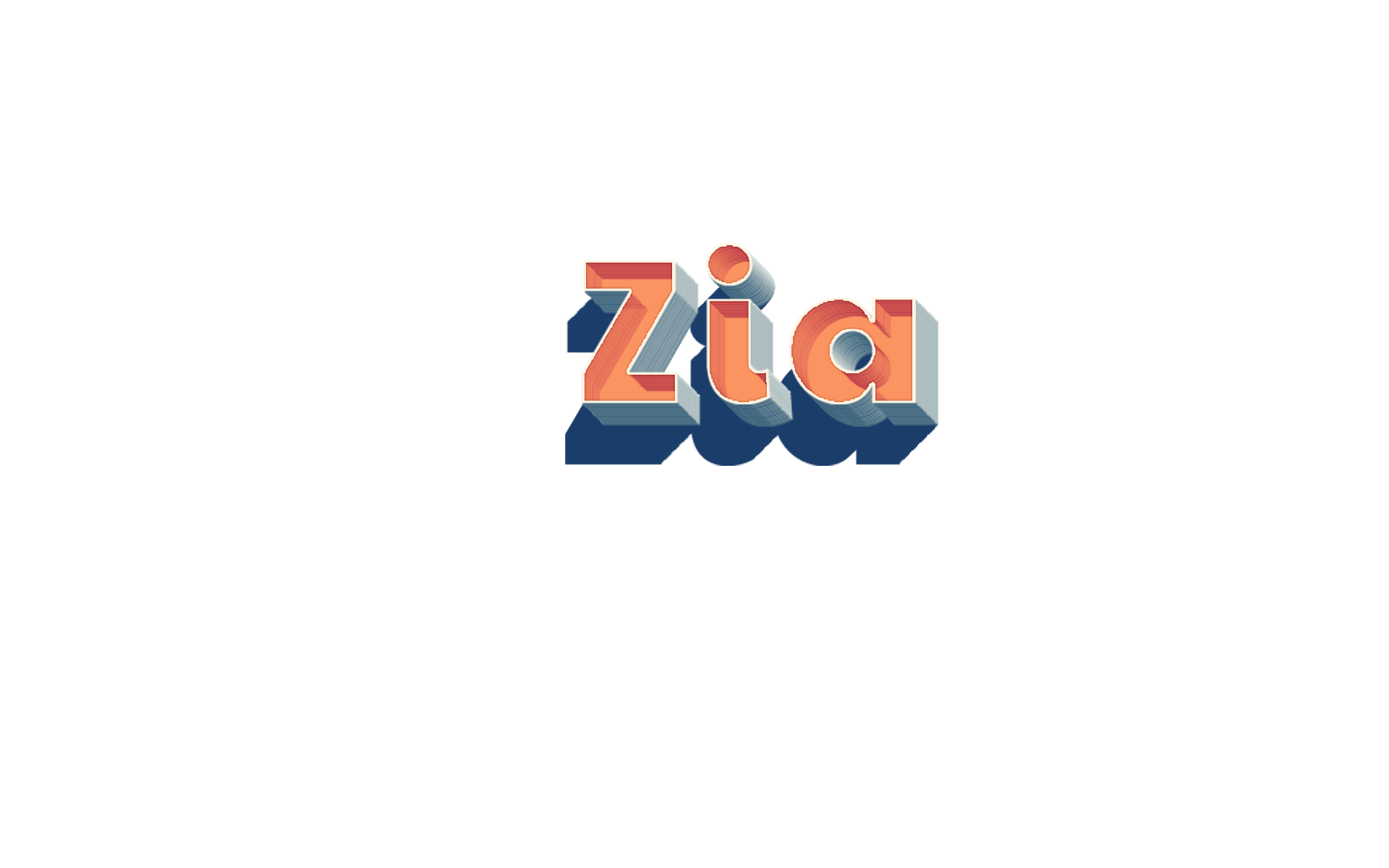 Zia 3D Letter PNG Name.