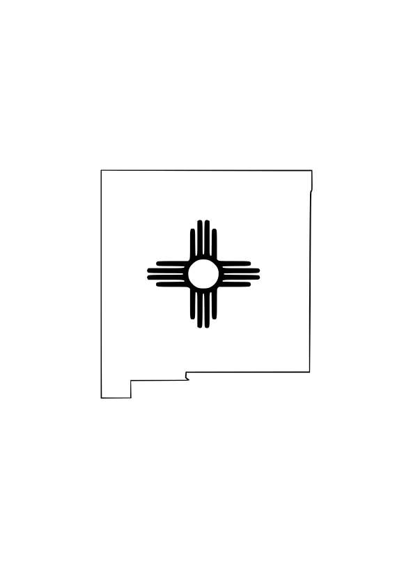 New Mexico Zia SVG File.