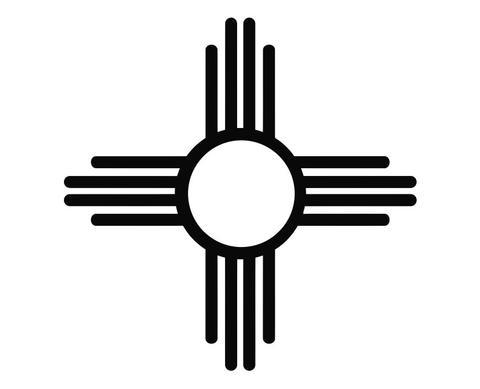 New Mexico Zia Sun symbol.