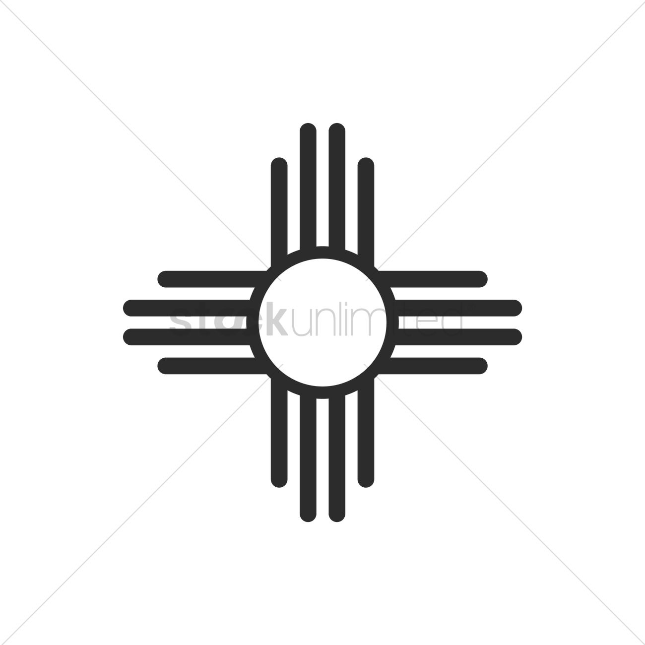 Zia symbol Vector Image.