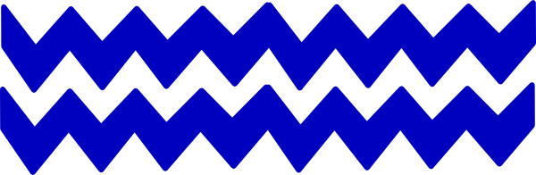 Blue Zig Zag Line Clipart.