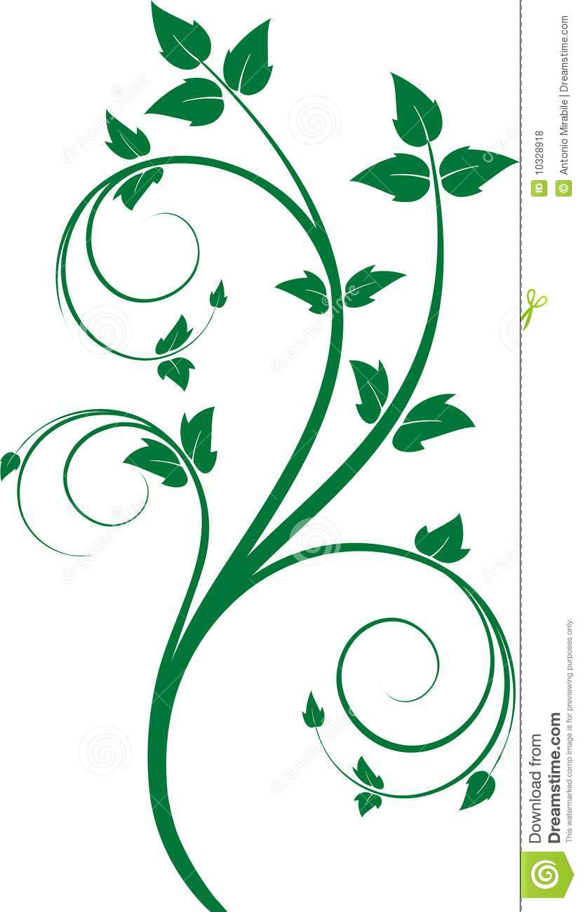 Green Floral Ornament Royalty Free Stock Photos.
