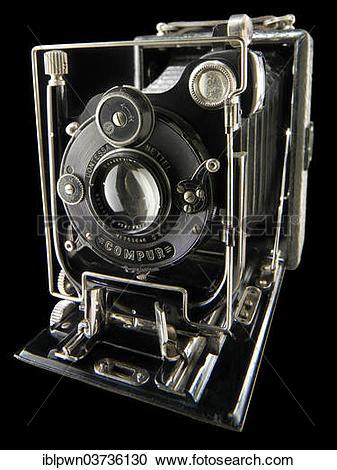 Stock Photography of Zeiss Contessa Nettel folding roll film.