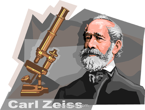 German Innovator Carl Zeiss Royalty Free Vector Clip Art.