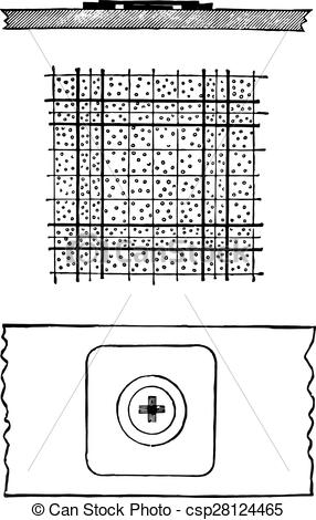 Clip Art Vector of Counting chamber of Thoma.