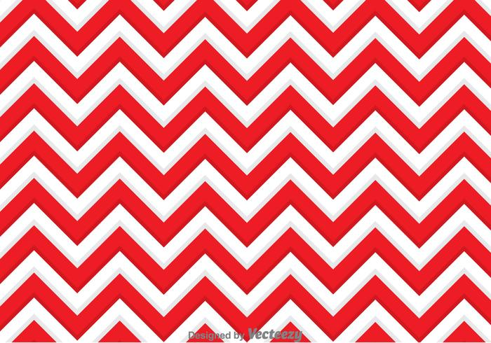 Red And White Zig Zag Background.