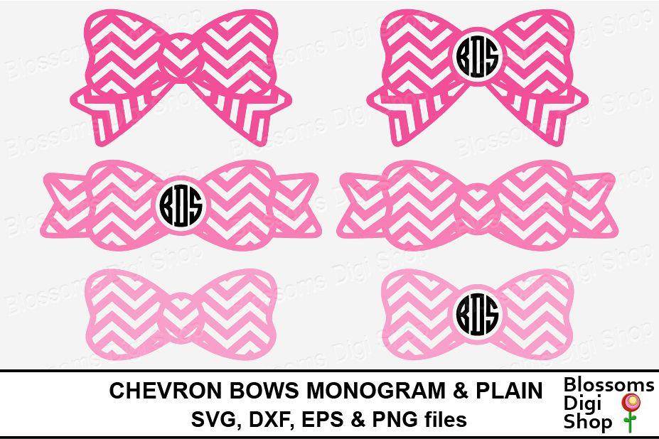 Chevron Bows, Monogram & Plain.