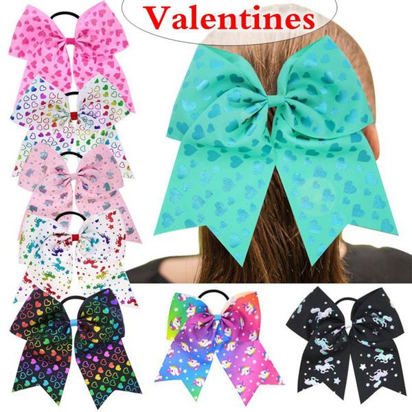 7 Metalic Cheer Bows Holder For Kids Girls Handmade Printed Ribbon  Valentines Day\'S Ponytail Hair Bows Hair Accessories Best Hair Accessories  For.
