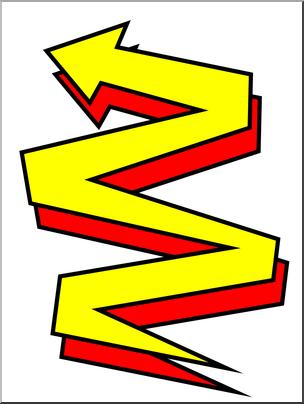 Clip art: Zig Zag Color I abcteach.com.