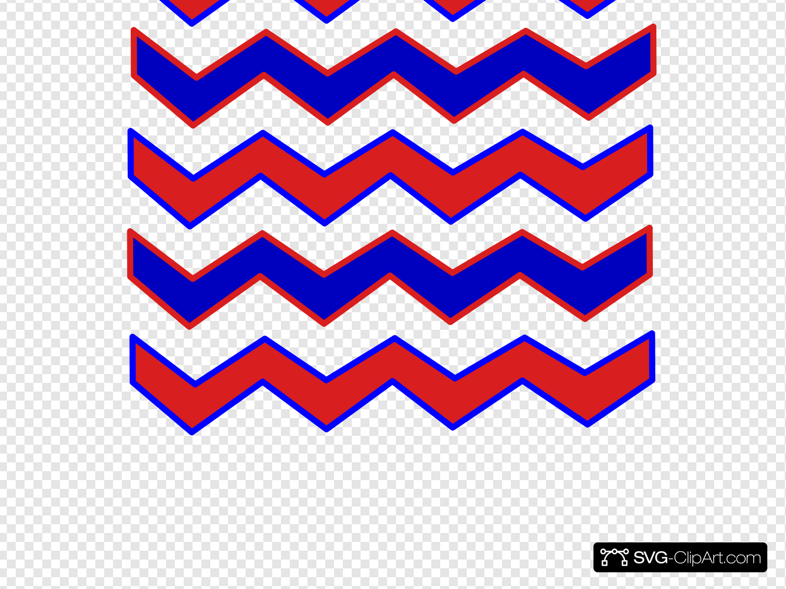 Zig Zag Red And Blue Clip art, Icon and SVG.