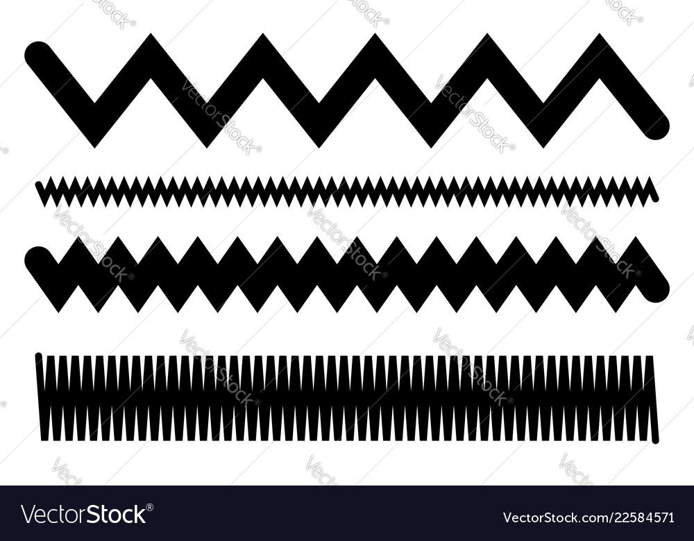 Lines with waving billowy effect wavy zigzag lines.