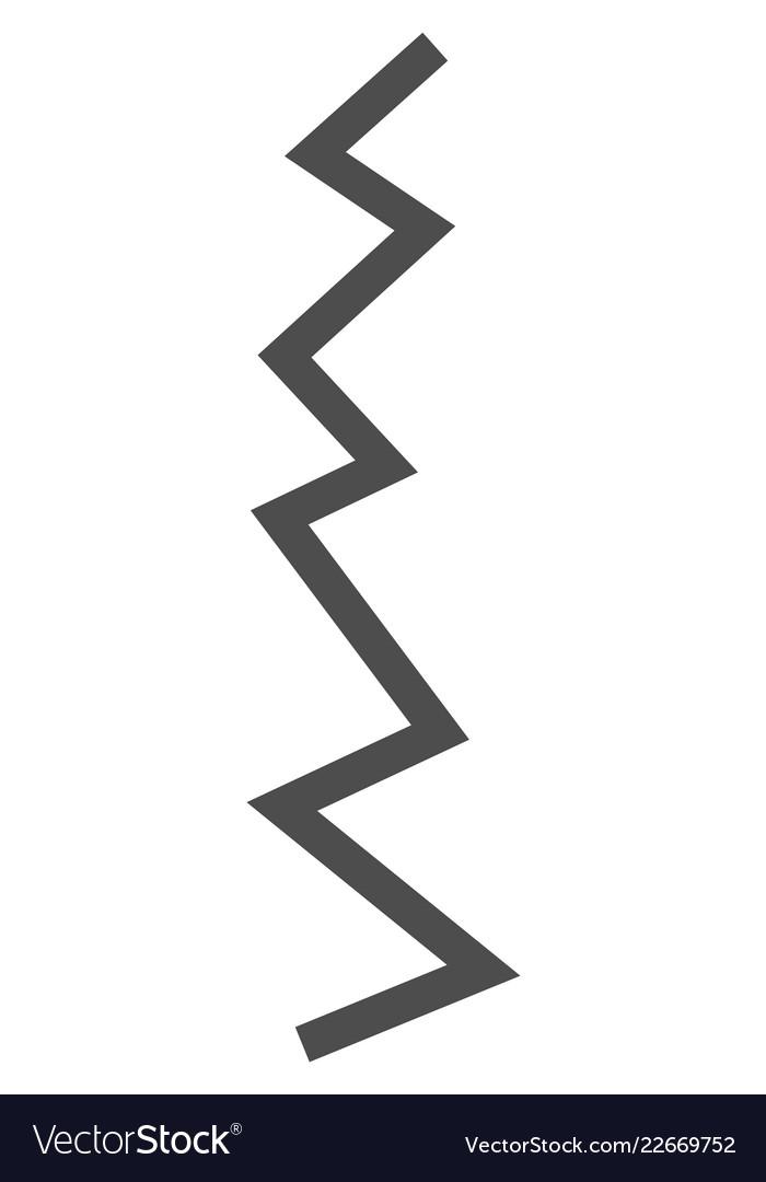 Zigzag line flat icon symbol.