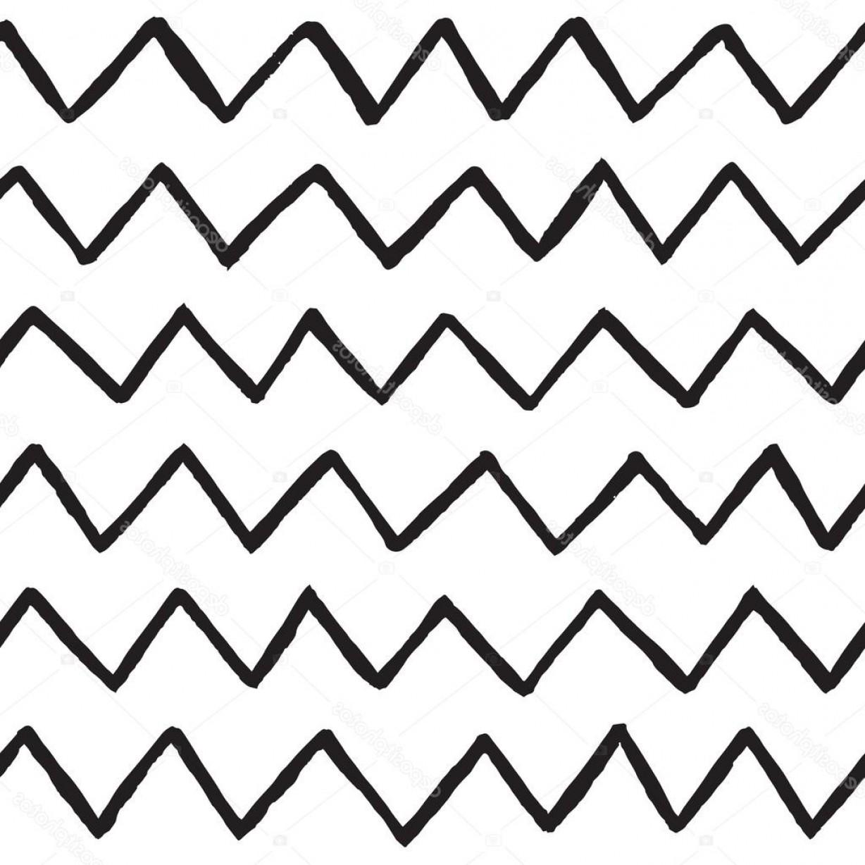 Stock Illustration Hand Drawn Zig Zag Lines.