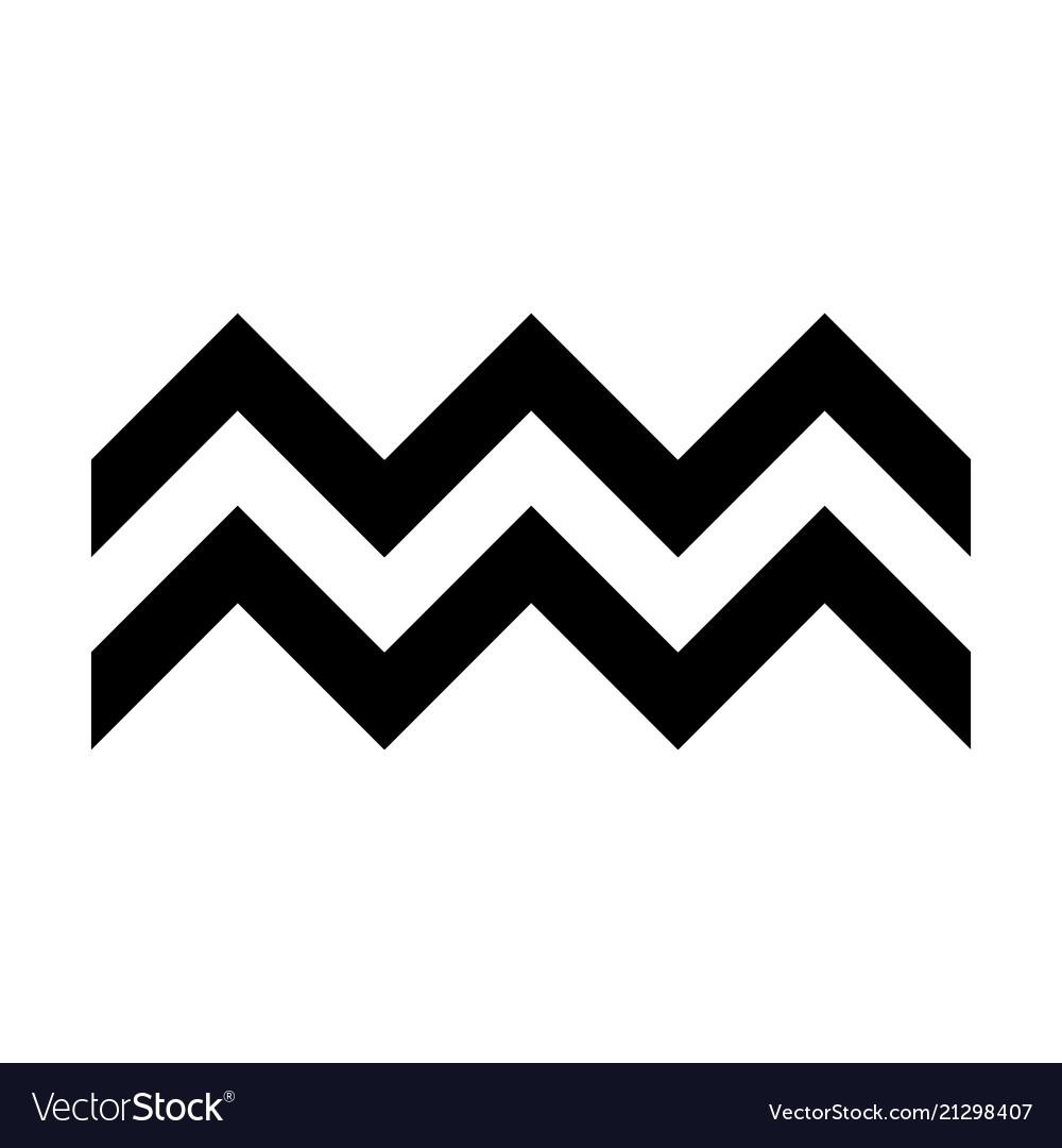 Zigzag symbol typical egyptian assyrian.