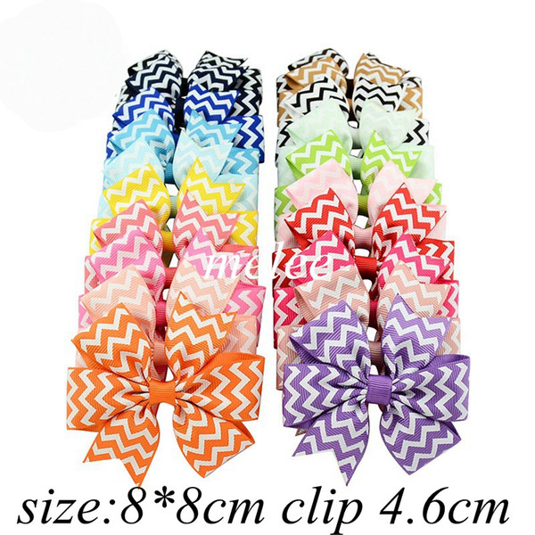 4Inch Girls Zigzag Chevron Ribbon Hair Bows Clips Hairpin Baby Butterfly  Striped Barrettes Hairgrip Headware Kids Hair Accessories Hair Accessories.