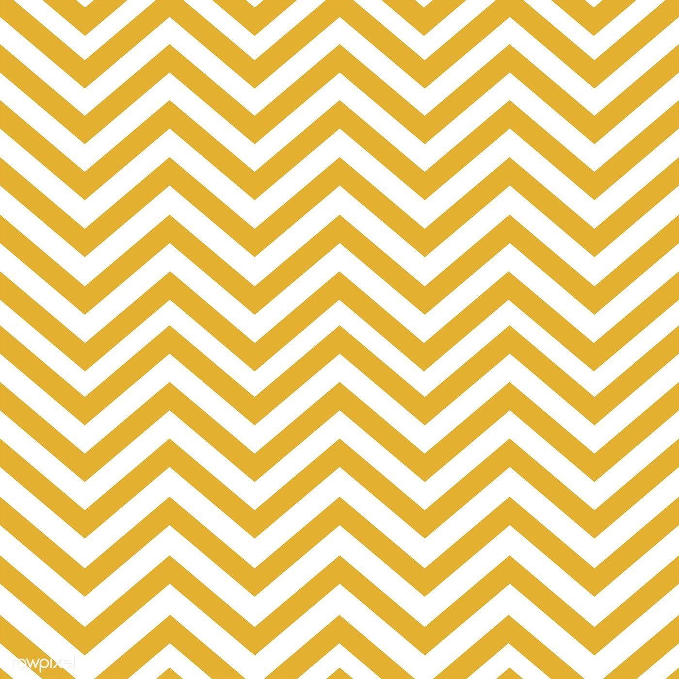 Mustard yellow seamless zigzag pattern vector.