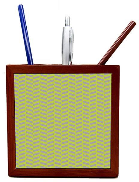 Amazon.com : Pencil Cup green Zigzag Tile Wooden Tile Pen.