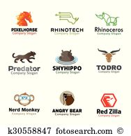 Zilla Clip Art Illustrations. 2 zilla clipart EPS vector drawings.