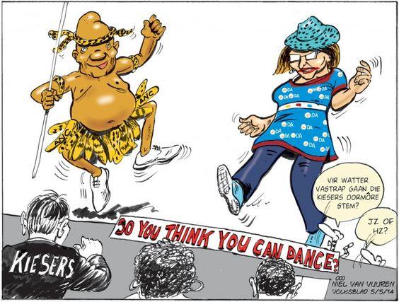 Volksblad : Oor Zuma en Zille.