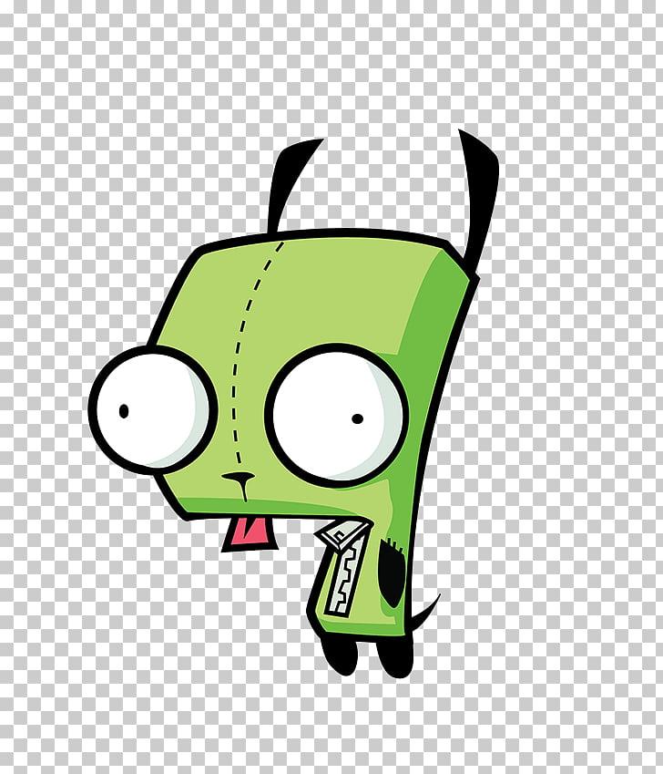 GIR Animated cartoon Drawing Invader Zim, illustrator.