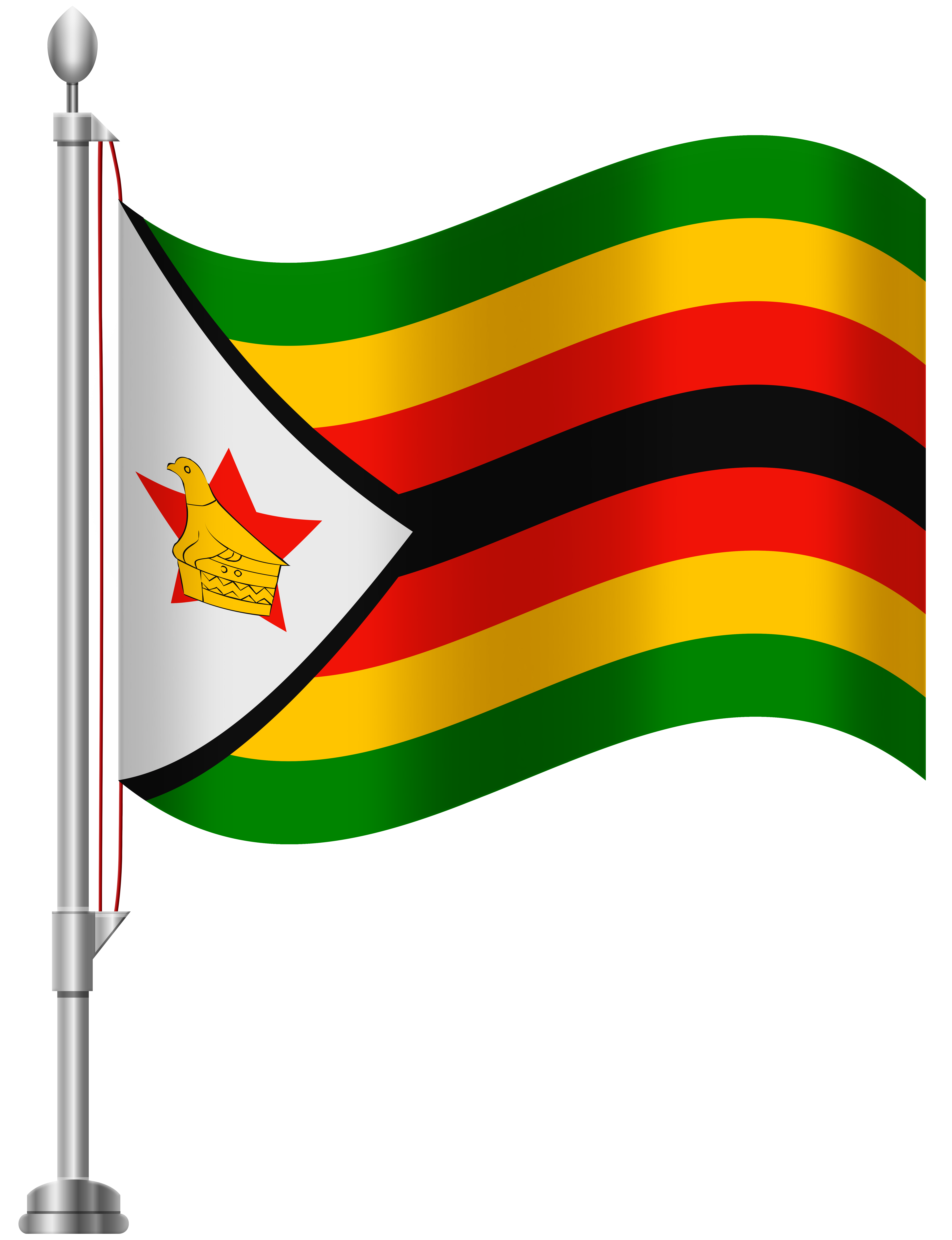 Zimbabwe Flag PNG Clip Art.