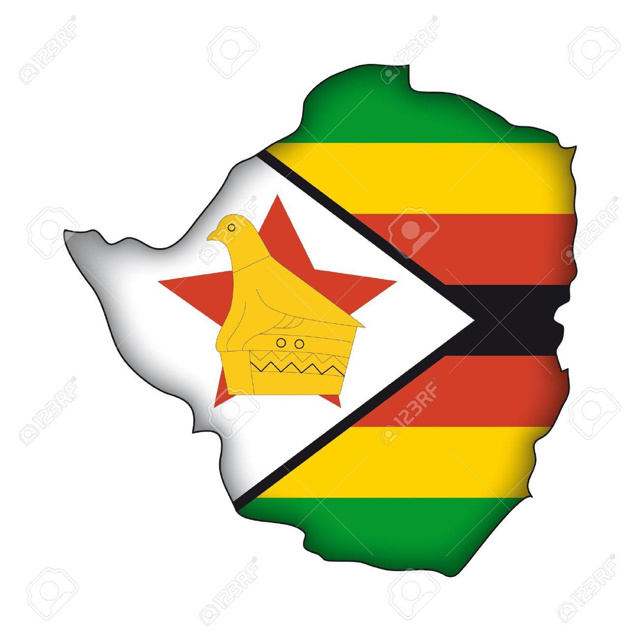 Zimbabwe flag clipart.