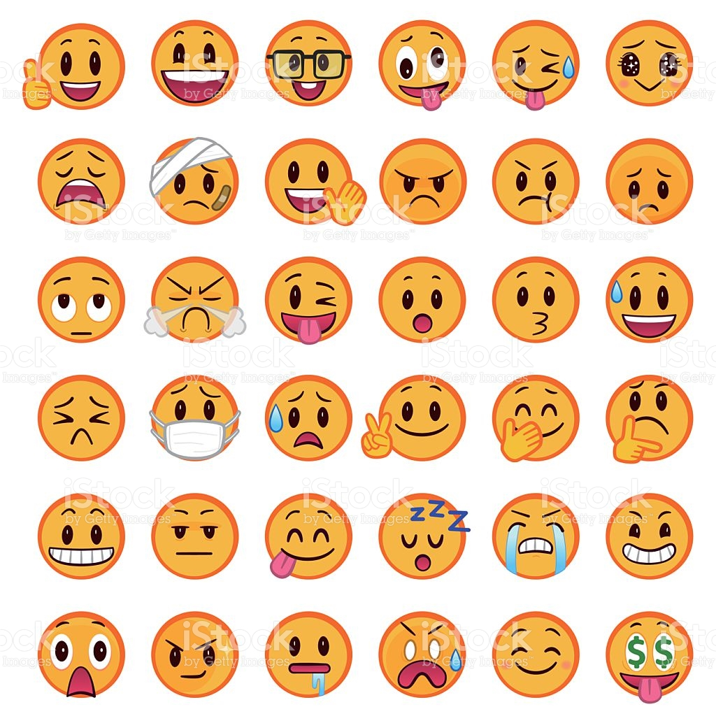 Orange emoji clipart.