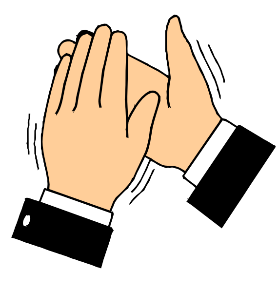 Free Clapping Hands Clip Art.