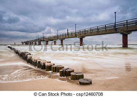 Stock Photography of Pier in Zingst (Germany). csp12460708.