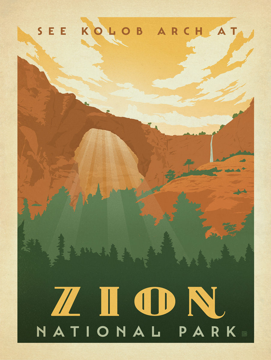 Zion National Park Clipart.