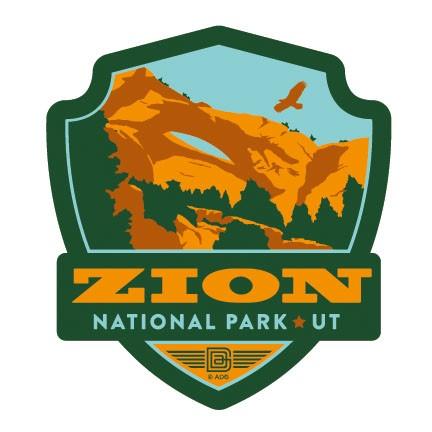 Zion NP Emblem Sticker.