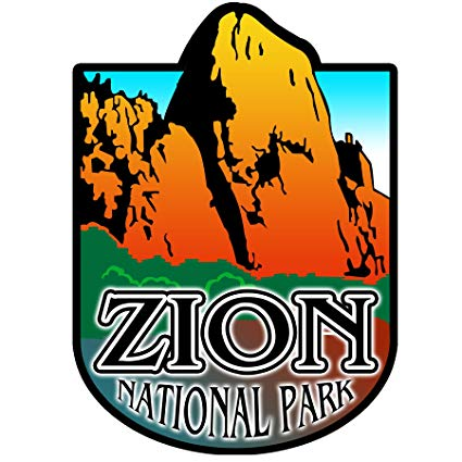 Vincit Veritas Zion National Park Decal Sticker Car Rv Car Bumper US Travel  Design S025.