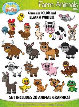 Farm Animals Clipart {Zip.