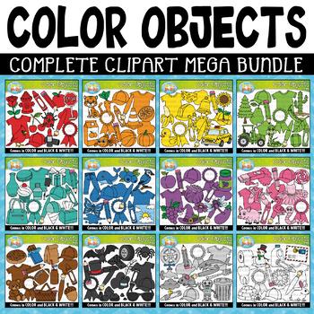Color Objects Clipart Mega Bundle {Zip.