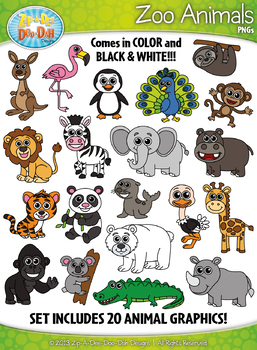 Animal Clipart Collection Mega Bundle {Zip.