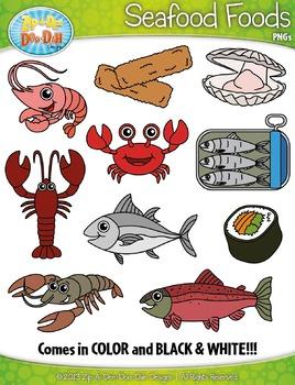 Seafood Foods Clipart {Zip.