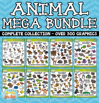 Animal Clipart Collection Mega Bundle {Zip.