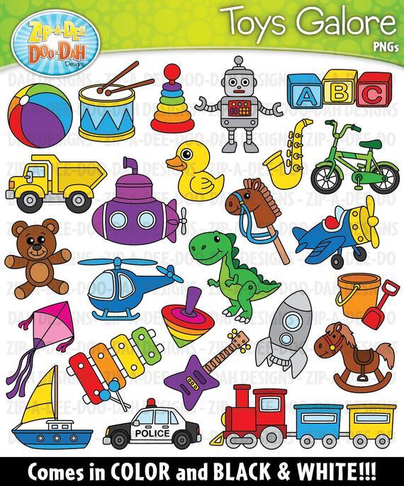 Toys Galore Clipart Set {Zip.