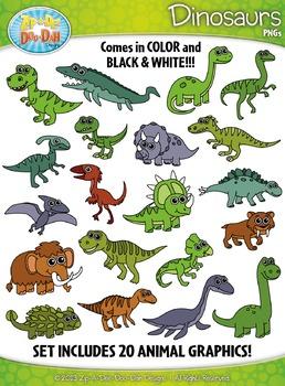 Dinosaur Clipart {Zip.